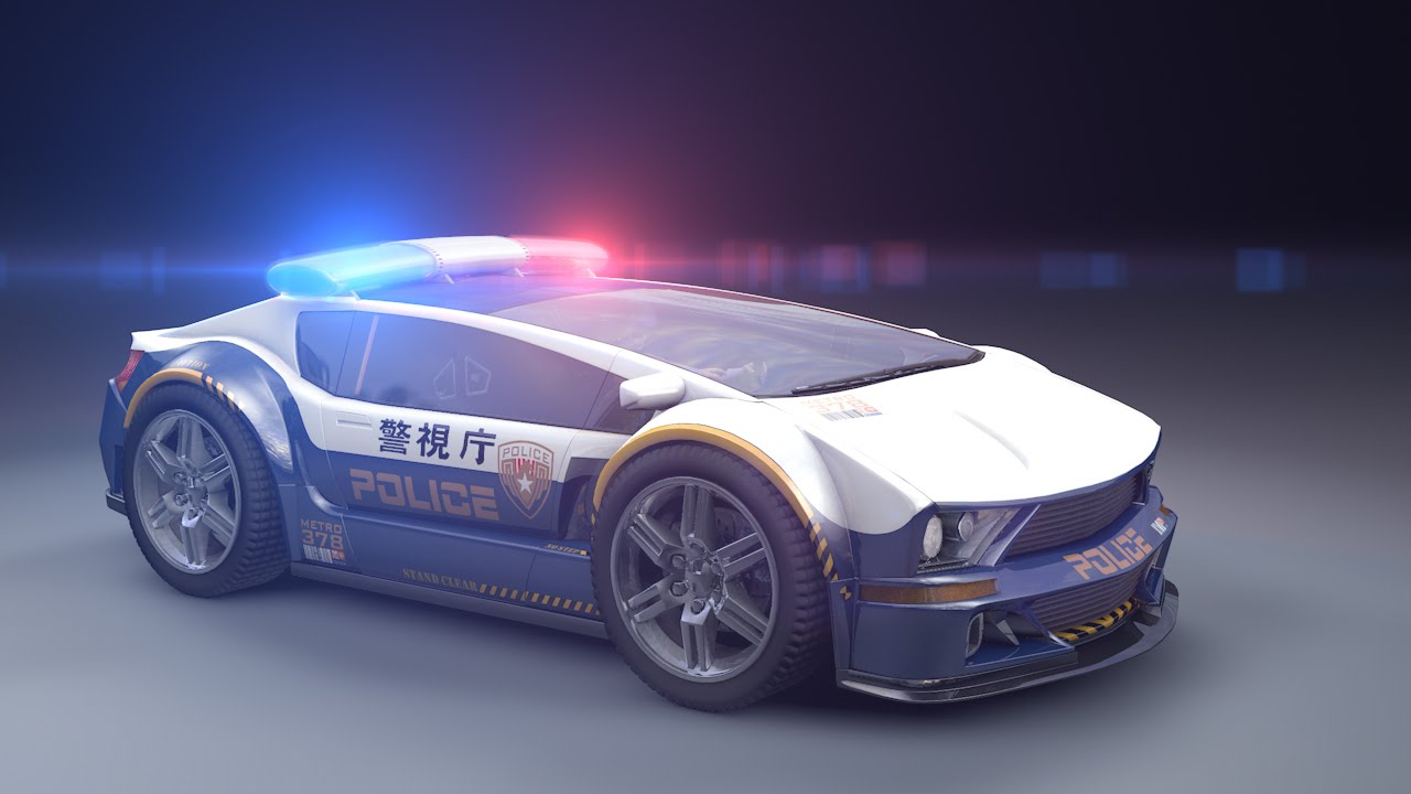 future police car prototype 2029 3d animation youtube