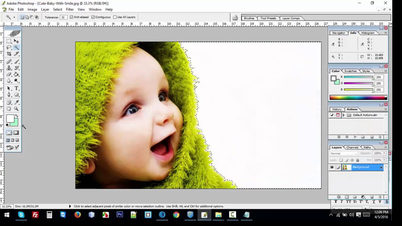 How To Change Background Color using magic wand tools in ...