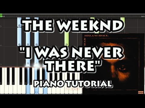 THE WEEKND - I WAS NEVER THERE (EASY PIANO TUTORIAL)