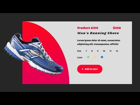 Product UI card Design with html and css | UI design tutorial thumbnail