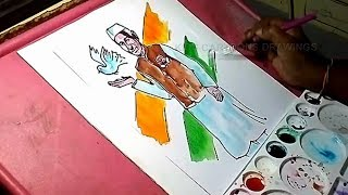How to Draw Nehru Color Drawing for Kids