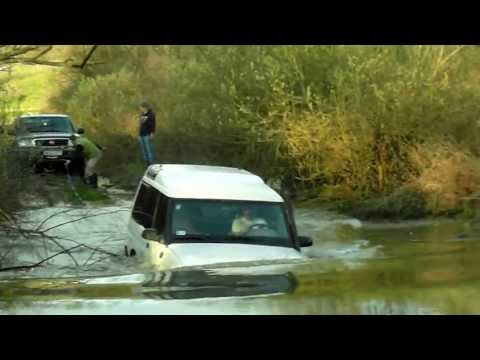 Land Rover Discovery in deep water