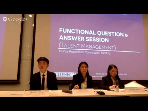 AIESEC-LC-HKU Session 2014-2015 1st Vice Presidential Consultation Meeting