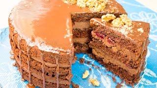 Шоколадный крем с орехами для шоколадного торта - Я - ТОРТодел!