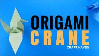 Origami Crane Easy Step by Step Tutorial - How to Make Paper Bird (Tsuru) DIY Tutorial for Beginners