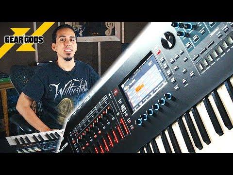 ROLAND Fantom 6 Keyboard First Look 2019 | GEAR GODS