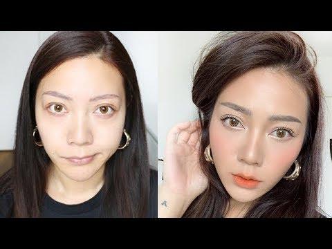 10 Minute minimal everyday makeup   FULL FACE of FAVOURITES   KOREAN STYLE thumbnail