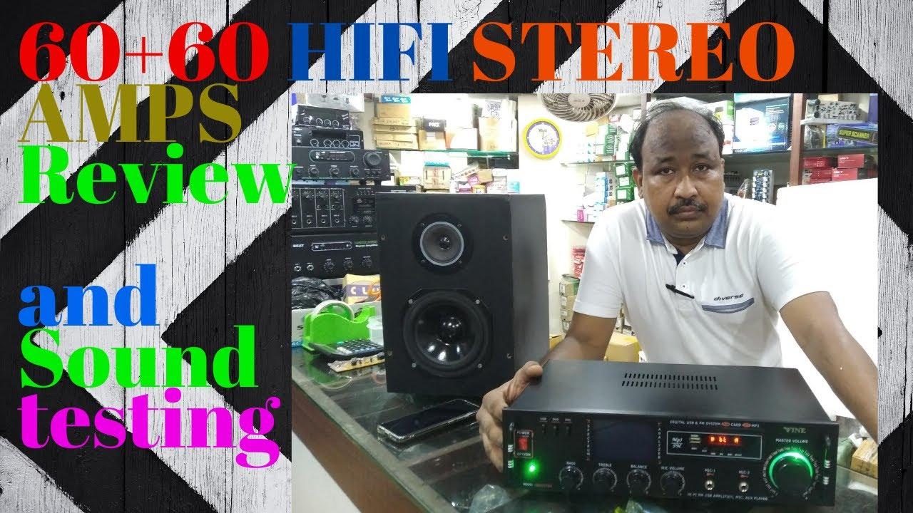 Cheap & Best II Ready to Use II 60w+60w Stereo Amplifier II Sound Test