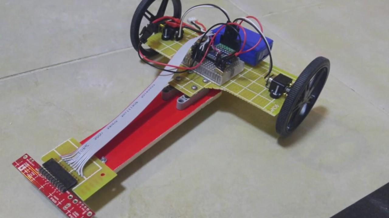 Maze solver using pololu QTR-8A reflectance sensor array by