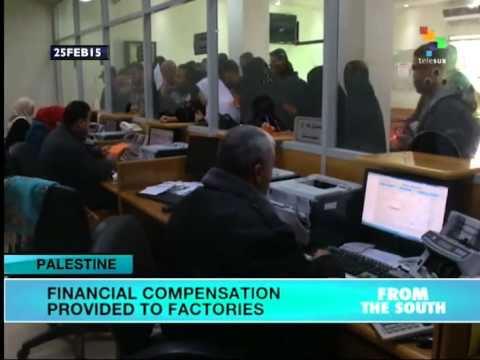 Financial compensation provided to Palestinian factories