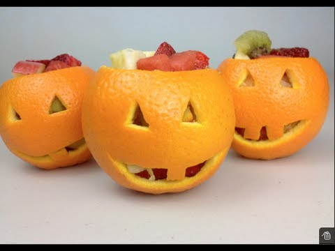 Jack O'Lantern FRUIT SALAD - Halloween Recipe