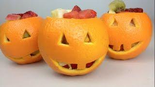 Jack O'Lantern FRUIT SALAD - Halloween Recipe