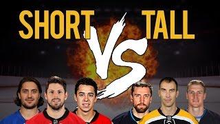 TALLEST NHL PLAYERS VS SHORTEST NHL PLAYERS | NHL 16