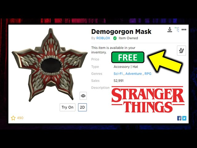 Roblox Trash Club Mask Free Stranger Things Hats Get These Now Youtube