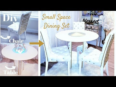 DIY EASY DINING SET |SMALL SPACE HOME DECOR IDEA 2019