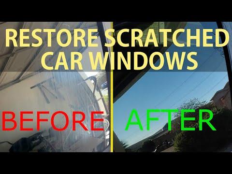 DIY - Restore Scratched Car Windows - Fix Hazy Car Window - Level : Beginner
