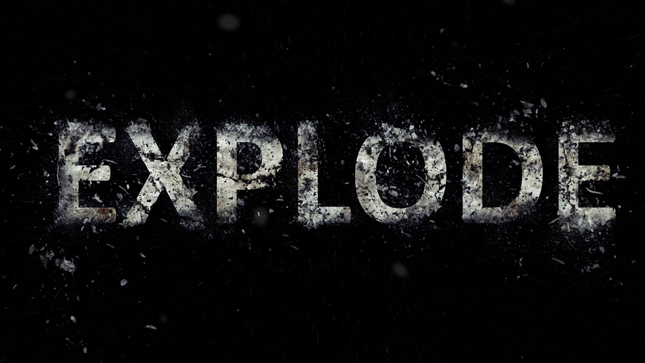 Photoshop tutorial exploding text effect youtube baditri Gallery