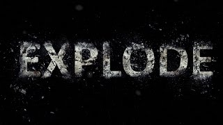 Photoshop Tutorial: Exploding Text Effect