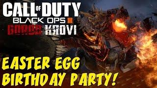 "Black Ops 3 Zombies: GOROD KROVI! ★ FULL Easter Egg Run ""Attempt"" & Spider's Birthday Party!"