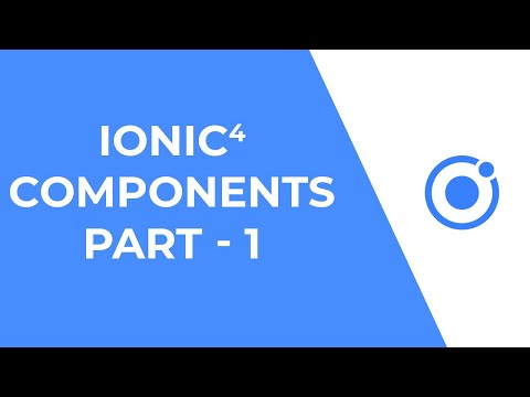 Ionic 4 UI Components - Part 1