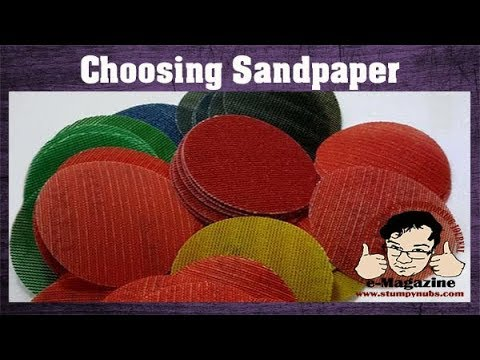 What's the RIGHT sandpaper for woodworking? (Types, grits etc.)
