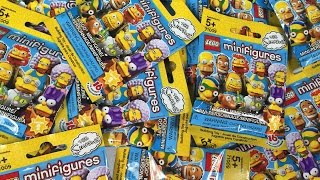 Lego Simpsons Series 2 Mini Figures Minifigs Opening Unboxing Toy Review