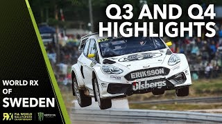 Q3 and Q4 Highlights | 2019 Swecon FIA World Rallycross of Sweden