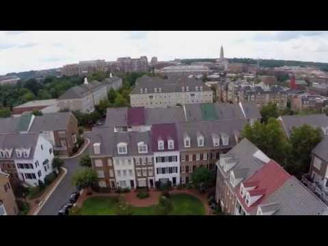 Drone View: Old Town Village, Alexandria, Virginia