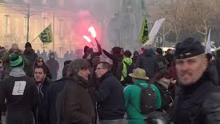 Retraite : manifestation contre la réforme (29 janvier 2020, Paris)