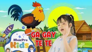 Bé Minh Vy - Gà Gáy Le Te   Nhạc Thiếu Nhi Cho Bé Vui Nhộn ♫ Nhacpro Kids - Âm Nhạc Cho Bé