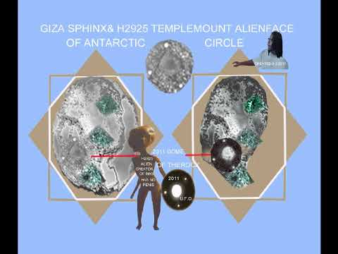 THE GIZASPHINX & ALIENS FACE OF THE ANT ARCTIC CIRCLE 123 ICECOVERED GIZAPYRAMIDS