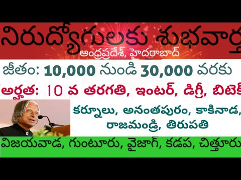 Vijayawada local jobs | Vizag jobs vacancies | Kadapa jobs | Kurnool jobs | Anantapur jobs |