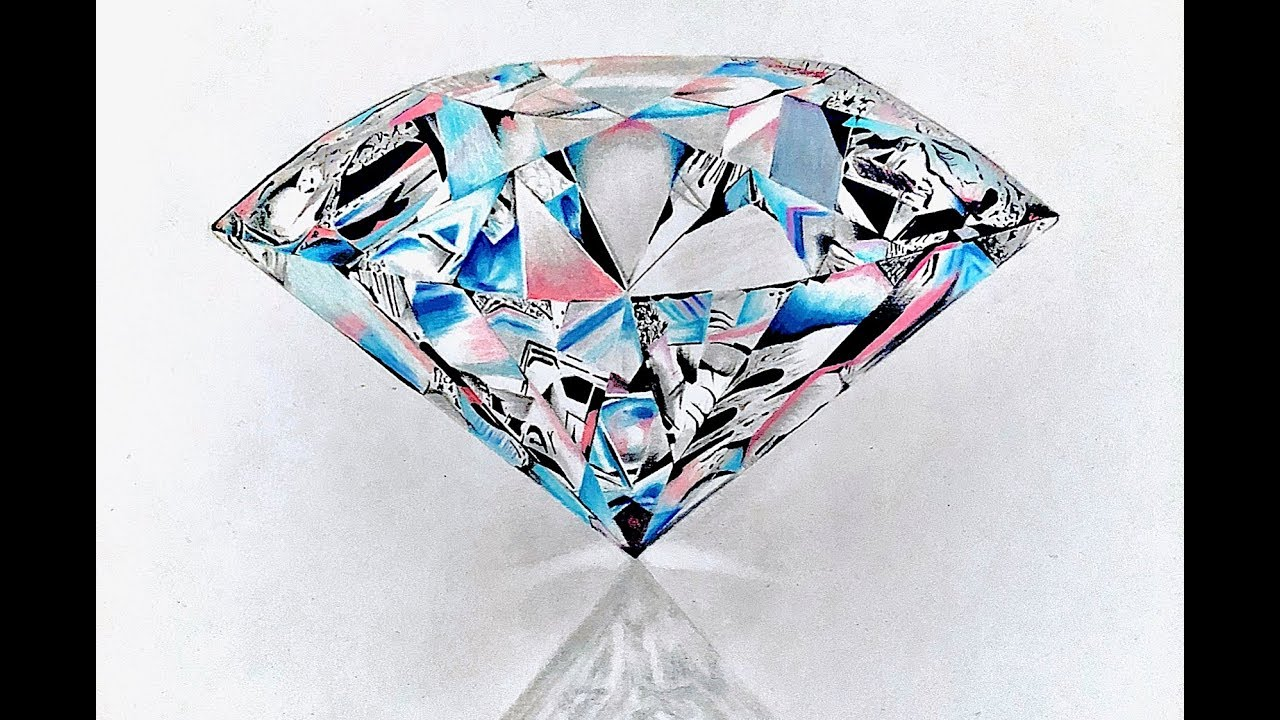 It is an image of Adorable Drawing Of Diamonds