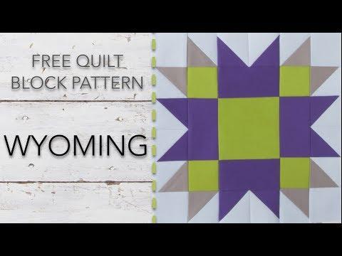 FREE Quilt Block Pattern: Wyoming