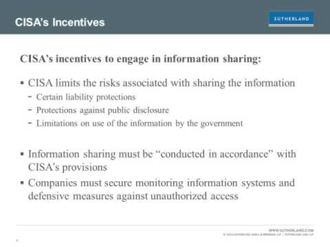 Webcast: Information Sharing Under the Cybersecurity Act of 2015