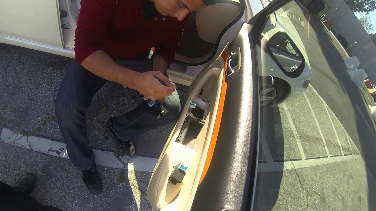 how to replace window switch on 05 08 acura tsx youtube