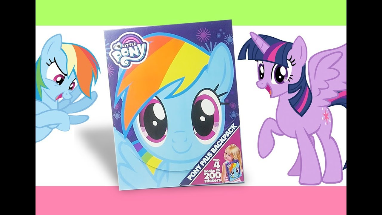 My Little Pony Activity Book Pals Backpack MLP Coloring Stickers