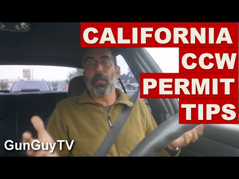 How to get a california concealed weapons permit