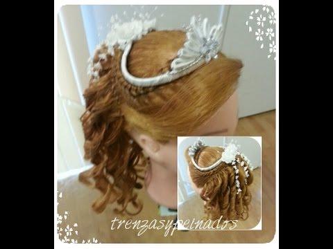 peinados para primera comunion de niña - girl's hairstyle for