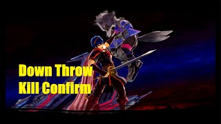 Marth Down Throw Kill Confirm
