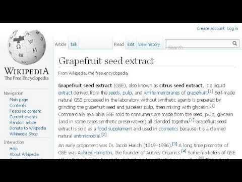Grapefruit Seed Extract Benefits - YouTube