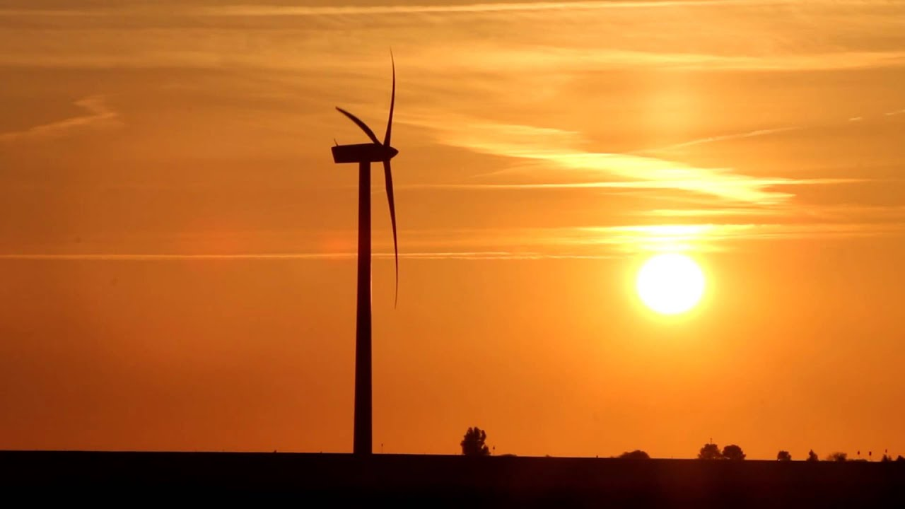 modern windmill at sunset youtube