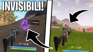 GLITCH FOR INVISIBLE DIVENTS WITH THE POWER OF PLAY PLAYS!! | Fortnite ITA