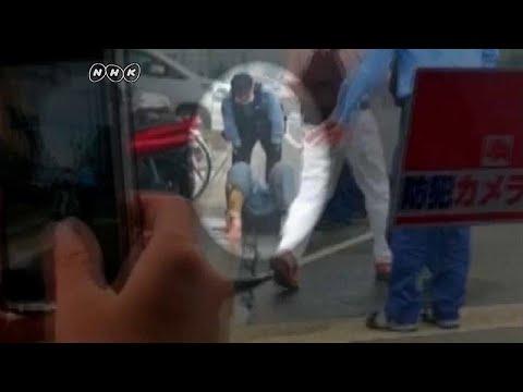 شاهد: لحظة اعتقال المشتبه به بإضرام النار باستديو للرسوم المتحركة في اليابان …