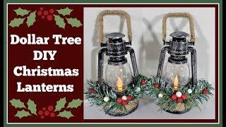 Dollar Tree Diy 🎄 Christmas Lanterns