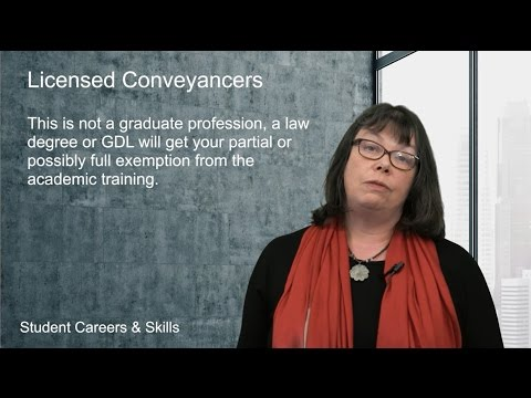 Licensed Conveyancers (Routes into Law: Part 22)