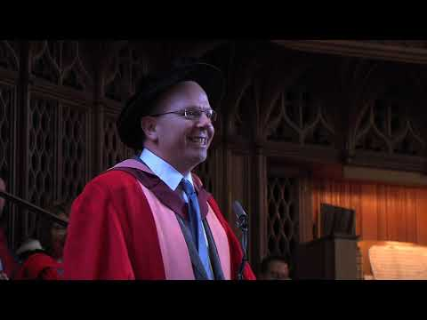 Col Needham honorary degree acceptance speech