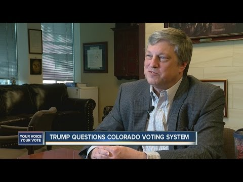 Colorado secretary of state defends voting system against Trump's 'rigged' allegation