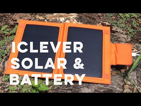 iClever 12W 8000mAh Portable Battery Power Bank Solar Panel Charger review