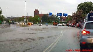 Oversvømmelse i Havnegade Næstved 210519